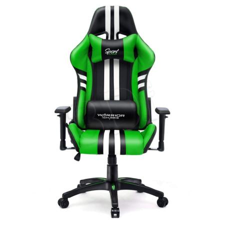 Fotel gamingowy WARRIOR CHAIRS SPORT EXTREME 5903293761021 (KOLOR ZIELONY)