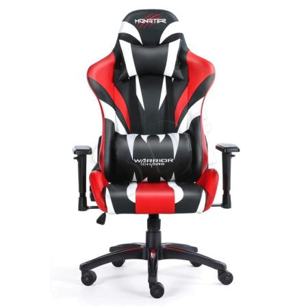 Fotel gamingowy WARRIOR CHAIRS MONSTER 5903293761069 (KOLOR CZERWONY)