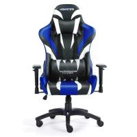 FOTEL GAMINGOWY WARRIOR CHAIRS MONSTER 5903293761076 (KOLOR NIEBIESKI)