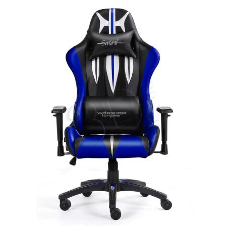 FOTEL GAMINGOWY WARRIOR CHAIRS SWORD 5903293761106 (KOLOR NIEBIESKI)