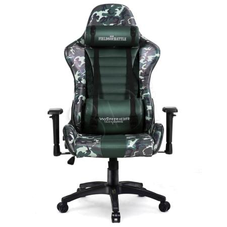 Fotel gamingowy WARRIOR CHAIRS FIELDS OF BATTLE FOREST CAMOUFLAGE 5903293761120 (KOLOR ZIELONY)