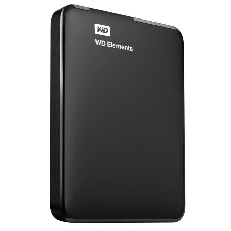 Dysk WD ELEMENTS PORTABLE 1TB USB3.0/USB2.0 BLACK (WDBUZG0010BBK-WESN)