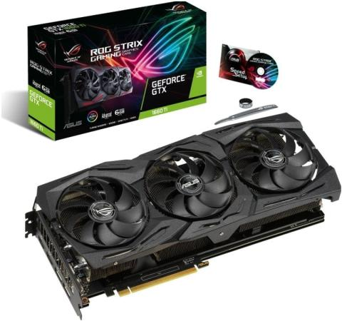 KARTA GRAFICZNA ASUS ROG STRIX GTX 1660 TI ADVANCED A6G GAMING 6GB GDDR6 192BIT 2X HDMI 2X DP PCIE3.0 (90YV0CQ1-M0NA00)