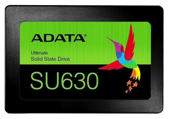 "Dysk SSD ADATA ULTIMATE SU630 240GB 2,5"" SATA3 (520/450 MB/S) 7MM, 3D QLC / BLACK RETAIL (ASU630SS-240GQ-R)"