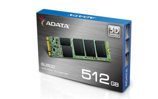 DYSK SSD ADATA ULTIMATE SU800 512GB M.2 (560/520 MB/S) 2280 3D TLC (ASU800NS38-512GT-C)