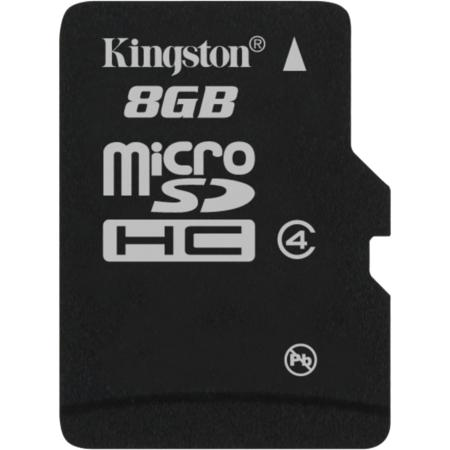 Karta pamięci KINGSTON MICRO SECURE DIGITAL 8 GB CLASS-4 MICROSDHC (SDC4/8GBSP)