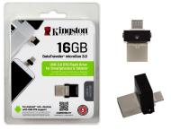 PENDRIVE KINGSTON DATATRAVELER MICRODUO 16GB USB3.0/MICROUSB (DTDUO3/16GB)