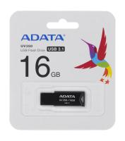 ADATA FLASHDRIVE UV350 16GB USB 3.2 BLACK (AUV350-16G-RBK)