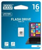 GOODRAM FLASHDRIVE PICCOLO 16GB USB 2.0 BIAŁY (UPI2-0160W0R11)