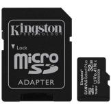 KINGSTON 32GB MICROSDHC CANVAS SELECT PLUS 100R A1 C10 CARD + ADP (SDCS2/32GB)