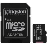 KINGSTON 64GB MICROSDXC CANVAS SELECT PLUS 100R A1 C10 CARD + ADP (SDCS2/64GB)