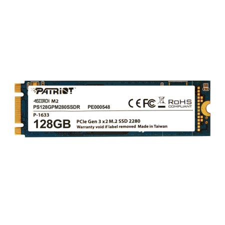 DYSK SSD PATRIOT SCORCH 128GB M.2 2280 PCIE NVME (1700/415 MB/S) TLC (PS128GPM280SSDR)