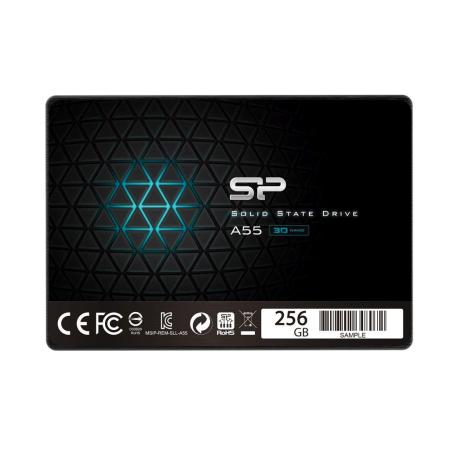 "DYSK SSD SILICON POWER A55 256GB 2.5"" SATA3 (520/330) 7MM (SP256GBSS3A55S25)"